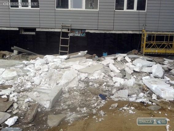 Полиция занялась расследованием ЧП на стройплощадке в Одессе