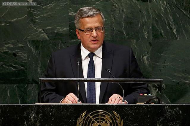СБ ООН не способствовал решению кризиса в Украине - Коморовский