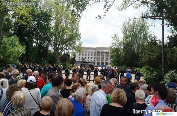 В Одессе предотвратили столкновение между сторонниками «Евромайдана» и «Антимайдана»