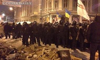 Милиция силой разблокировала правительственный квартал