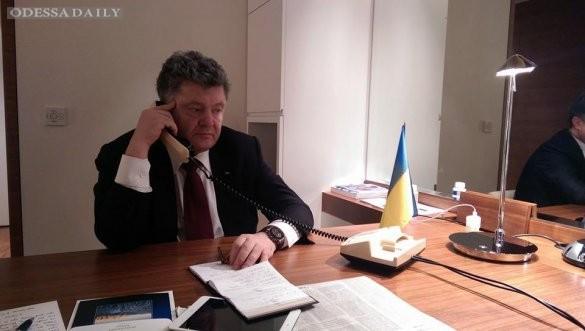 Порошенко сокращает визит в Швейцарию из-за ситуации в Донбассе