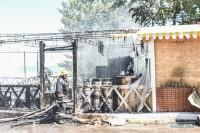 Масштабный пожар возле клуба Ибица. Ресторан сгорел дотла