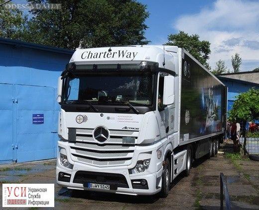 Гуманитарная помощь: немцы передали Одессе фуру с медицинским оборудованием