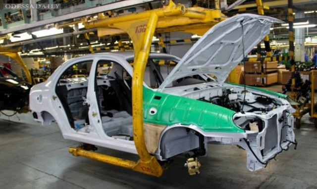 Автопроизводство в Украине упало на 57%
