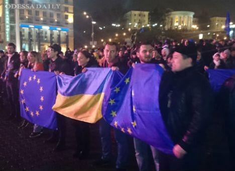Евромайдан-Одесса: Молчаливый протест на Тёщином мосту