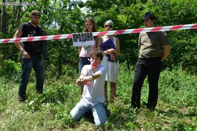 Акция анархистов: Продано! против принятия Генплана - 1