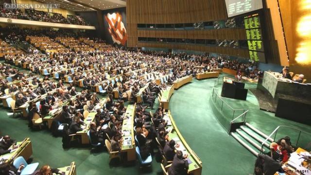 Генассамблея ООН назвала Россию временным оккупантом Крыма