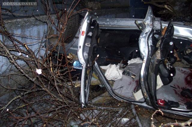 Под Одессой BMW врезался в дерево: 3 погибли, 2 ранены. Фото