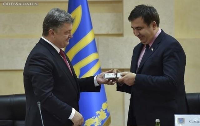 Порошенко одобрил инициативы Саакашвили на посту главы Одесской области