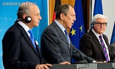 Главы МИД ФРГ, Франции и РФ обсудили ситуацию в Украине без Киева