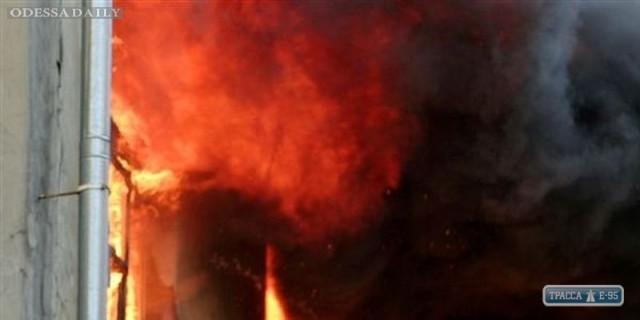 При пожаре в центре Одессы погиб мужчина