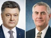 Порошенко обсудил с Тиллерсоном размещение миротворческого контингента ООН на Донбассе