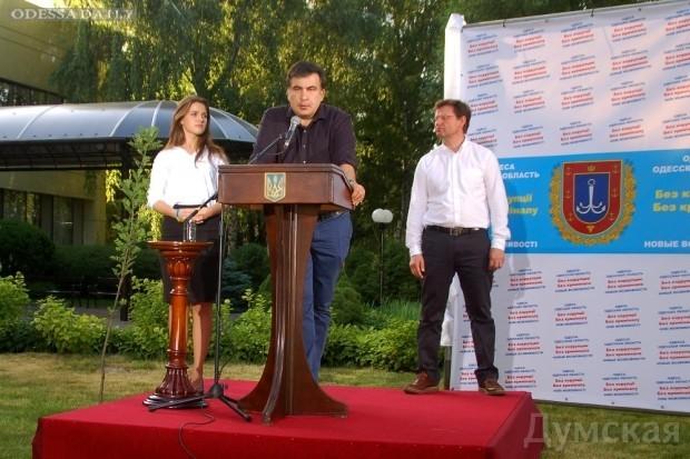 Михаил Саакашвили бросил перчатку коррупции и криминалу и представил первых членов своей команды