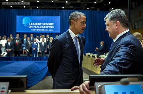 Порошенко провел встречу с Обамой