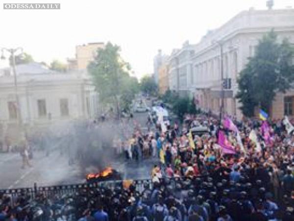Протест под Радой: милиция задержала более десяти человек