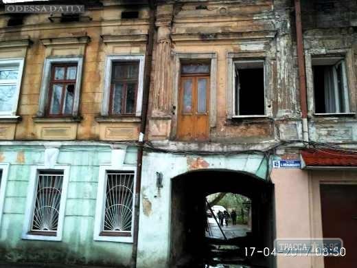 Одесская мэрия поможет жильцам сгоревшего дома на Молдаванке