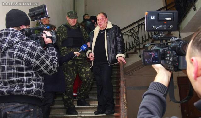 Одесская милиция опубликовала видео нападения активиста «Автомайдана» на директора телекомпании (видео)
