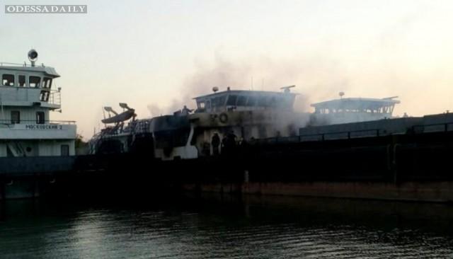 Пожар на судоремонтном заводе: горел словацкий теплоход