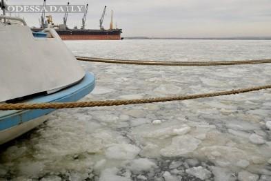 У берегов Одессы море покрылось льдинами