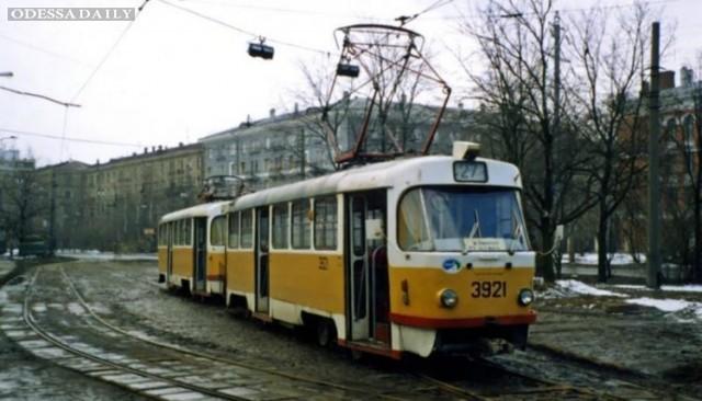 В Одессе из-за непогоды остановился трамвай в Черноморке