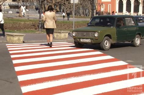 В Одессе начали обновлять дорожную разметку