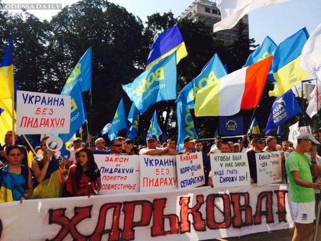 Более тысячи активистов под Радой требуют люстрации: фото