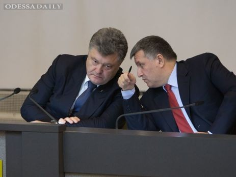 Между Порошенко и Аваковым произошел жесткий разговор в связи с протестом под Радой – СМИ