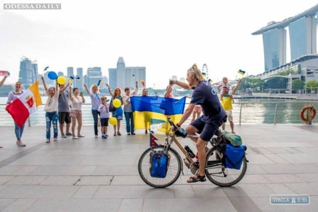 Велотурист из Одессы, преодолев более 14,5 тысяч километров, добрался до Сингапура