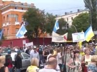 В Киеве несколько тысяч человек вышли на антитарифный марш протеста
