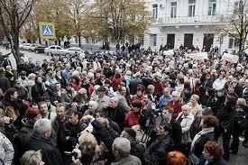 Одесские предприниматели перекрыли дорогу. Пикетчики требуют справедливости